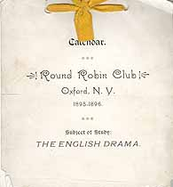 Thumbnail image of Oxford Round Robin Club 1895-1896 Calendar cover