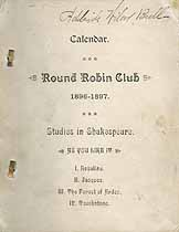 Thumbnail image of Oxford Round Robin Club 1896-1897 Calendar cover