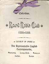 Thumbnail image of Oxford Round Robin Club 1898-1899 Calendar cover