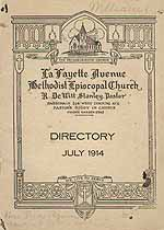 Thumbnail image of LaFayette Avenue Methodist Episcopal Church 1914 Directory cover