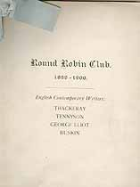 Thumbnail image of Oxford Round Robin Club 1899-1900 Calendar cover