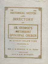 Thumbnail image of St. George's Methodist Episcopal Church 1903 Directory cover