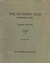 Thumbnail image of Parkman Mothers Club 1926-1927 Calendar cover