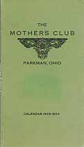 Thumbnail image of Parkman Mothers Club 1928-1929 Calendar cover