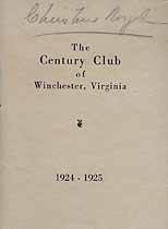 Thumbnail image of Winchester Century Club 1924-1925 Calendar cover