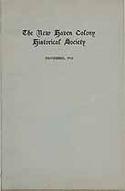 Thumbnail image of New Haven Colony Historical Society 1918 Reports cover