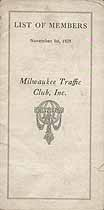 Thumbnail image of Milwaukee Traffic Club, Inc. 1929 Members cover