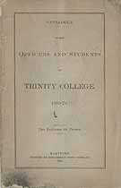Thumbnail image of Trinity College 1869-70 Catalogue cover