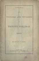 Thumbnail image of Trinity College 1874-75 Catalogue cover