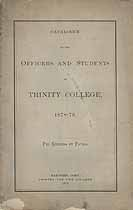 Thumbnail image of Trinity College 1878-79 Catalogue cover