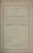 Thumbnail image of Trinity College 1881-82 Catalogue cover
