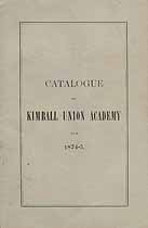 Thumbnail image of Kimball Union Academy 1874-5 Catalogue cover