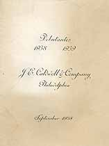 Thumbnail image of Philadelphia Debutantes 1938-1939 cover