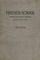 Thumbnail image of Friends School 1925-1926 Catalogue cover