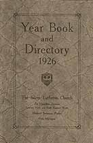 Thumbnail image of Salem Lutheran Church 1926 Year Book and Directory cover