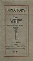 Thumbnail image of Zion Reformed Church 1927 Directory cover