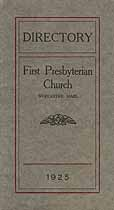 Thumbnail image of Worcester First Presbyterian Church 1925 Directory cover