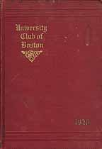 Thumbnail image of Boston University Club 1920 By-Laws cover