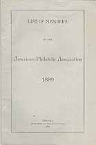 Thumbnail image of American Philatelic Association 1889 Members cover