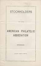 Thumbnail image of American Philatelic Association 1898 Stockholders cover