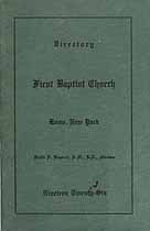 Thumbnail image of Rome First Baptist Church 1926 Directory cover