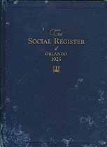 Thumbnail image of The Social Register of Orlando 1925 cover