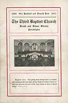 Thumbnail image of Philadelphia Third Baptist Church 1913 Hand Book cover