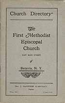 Thumbnail image of Batavia First Methodist Episcopal Church 1924 Directory cover