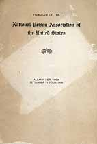 Thumbnail image of National Prison Association of the United States 1906 Program cover