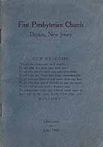 Thumbnail image of Dayton First Presbyterian Church 1930 Directory cover