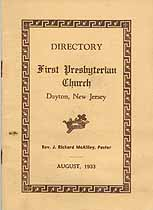 Thumbnail image of Dayton First Presbyterian Church 1933 Directory cover