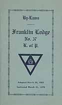 Thumbnail image of Franklin Lodge, No. 37, K. of P. 1923 By-Laws cover