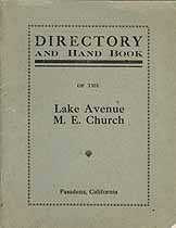 Thumbnail image of Lake Avenue Methodist Episcopal Church Directory cover
