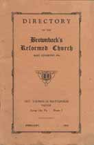 Thumbnail image of Brownback's Reformed Church 1931 Directory cover