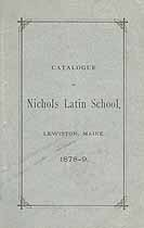 Thumbnail image of Nichols Latin School 1878-9 Catalogue cover