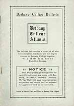 Thumbnail image of Bethany College 1916 Alumni Bulletin cover