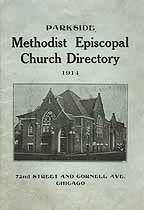 Thumbnail image of Parkside Methodist Episcopal Church 1914 Directory cover