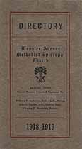 Thumbnail image of Wooster Avenue Methodist Episcopal Church 1918-19 Directory cover
