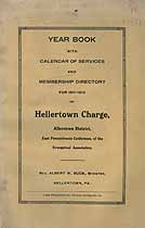 Thumbnail image of Hellertown Charge 1911-12 Year Book cover