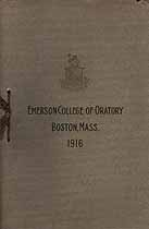 Thumbnail image of Emerson College of Oratory 1916 Catalogue cover