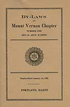 Thumbnail image of Mount Vernon Chapter R. A. M. 1923 By-Laws cover