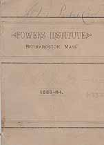 Thumbnail image of Powers Institute 1883-84 Announcement cover