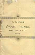 Thumbnail image of Powers Institute 1888-89 Catalogue cover