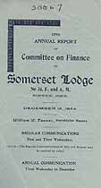 Thumbnail image of Somerset Lodge, No. 34, 1924 Annual Report cover