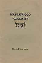 Thumbnail image of Maplewood Academy 1909-1910 Catalogue cover