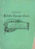 Thumbnail image of Geddes Methodist Episcopal Church 1886 Directory cover