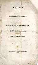 Thumbnail image of Bradford Academy 1828 Catalogue cover