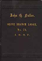 Thumbnail image of Olive Branch Lodge, No. 78 of I.O.O.F. 1884 Membership cover