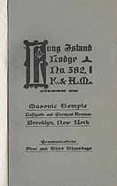 Thumbnail image of Long Island Lodge No. 382, 1923 Roster cover