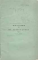 Thumbnail image of St. John's Lodge No. 1, 1855 Membership cover